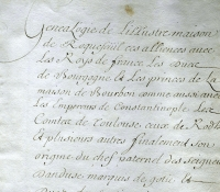 Chartrier Roquefeuil de 1711. Page 01