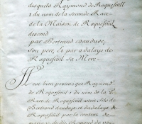 Chartrier Roquefeuil de 1711. Page 03