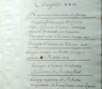 Chartrier Roquefeuil de 1711. Page 17