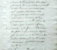 Chartrier Roquefeuil de 1711. Page 40