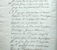 Chartrier Roquefeuil de 1711. Page 41 et fin