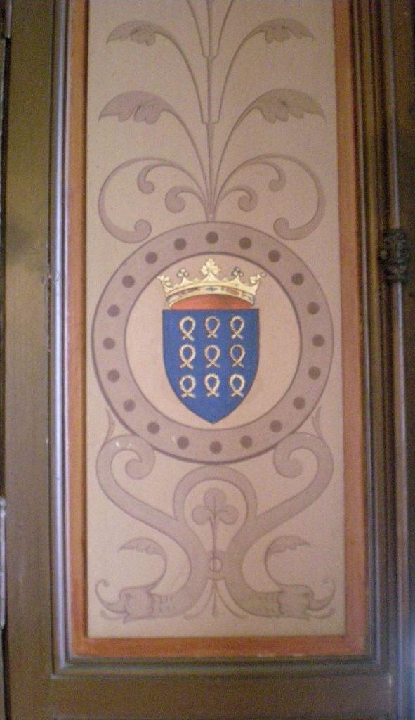Lambris aux armes Roquefeuil