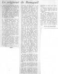 Presse- Le Figaro - Le seigneur de Bonaguil par Martin de Roquefeuil